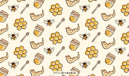 Rosh hashanah honey pattern