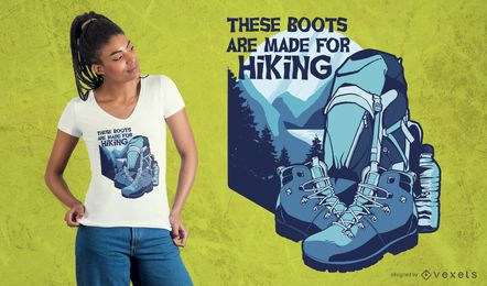 Botas para caminhadas design de t-shirt
