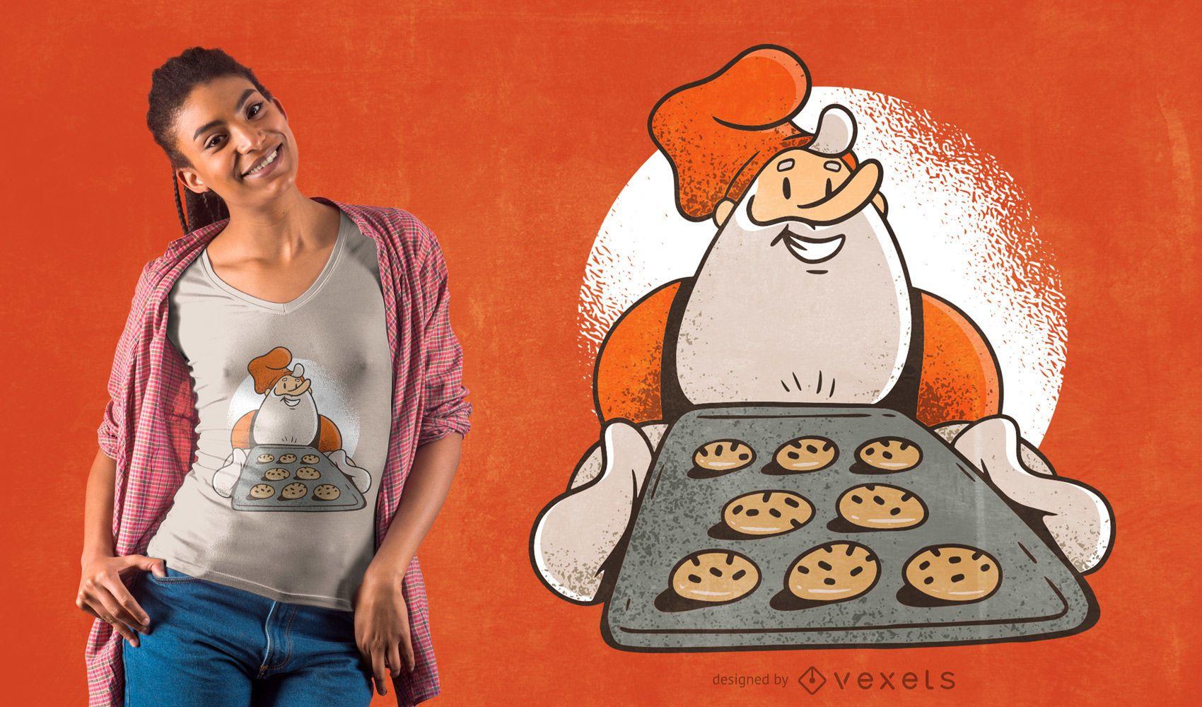 Diseño de camiseta de galletas de santa
