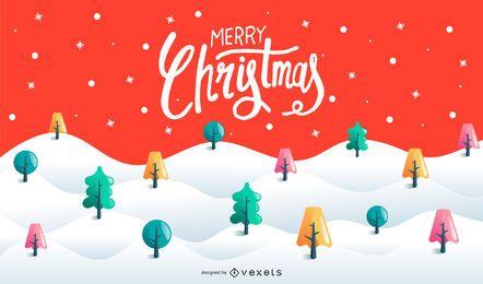Diseño de fondo de feliz navidad