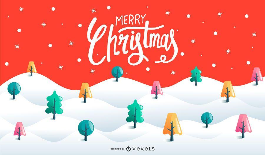 Merry christmas background design