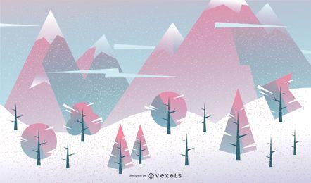 Desenho geométrico de fundo de inverno