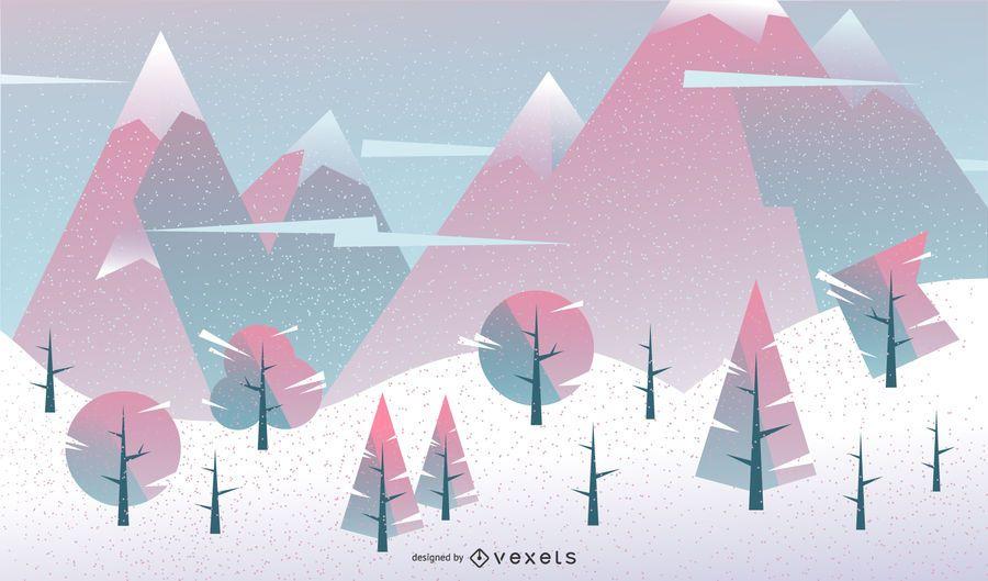 Projeto geométrico de fundo de inverno