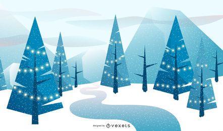 Winterweihnachtshintergrundentwurf