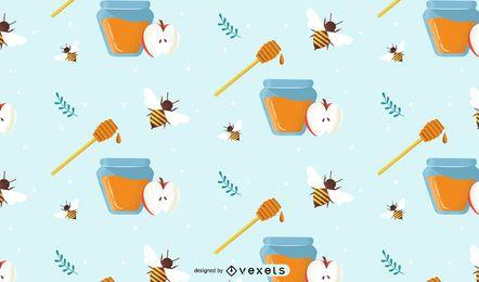 Diseño festivo del patrón de miel