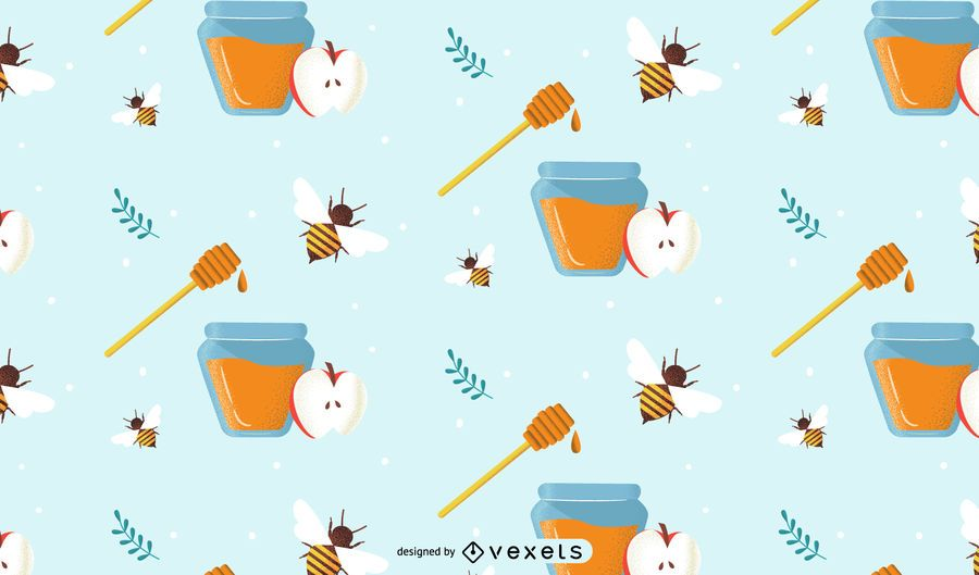 Festive honey pattern design