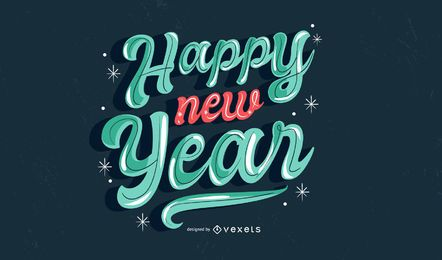 Feliz ano novo, vetorial, desenho