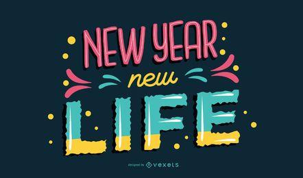 Neues Jahr-Beschriftungs-Vektor-Design