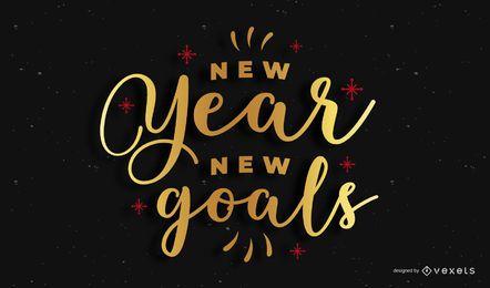 Banner de cita de letras de año nuevo