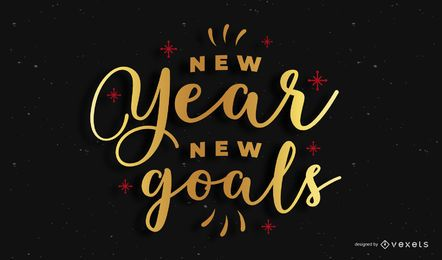 Banner de citação de letras de ano novo