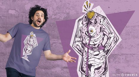 Coat monster t-shirt design