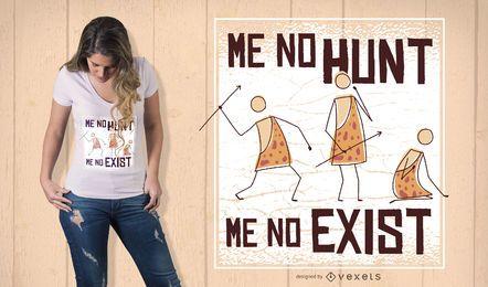 Diseño de camiseta de cita de caza.
