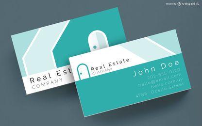 Plantilla de tarjeta de visita de bienes raíces