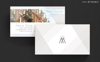 Plantilla de tarjeta de visita elegante de bienes raíces