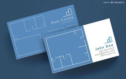 Diseño de tarjeta de presentación corporativa inmobiliaria
