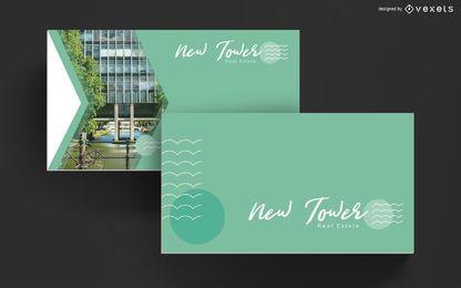 Design de modelo de cartão de visita imobiliário