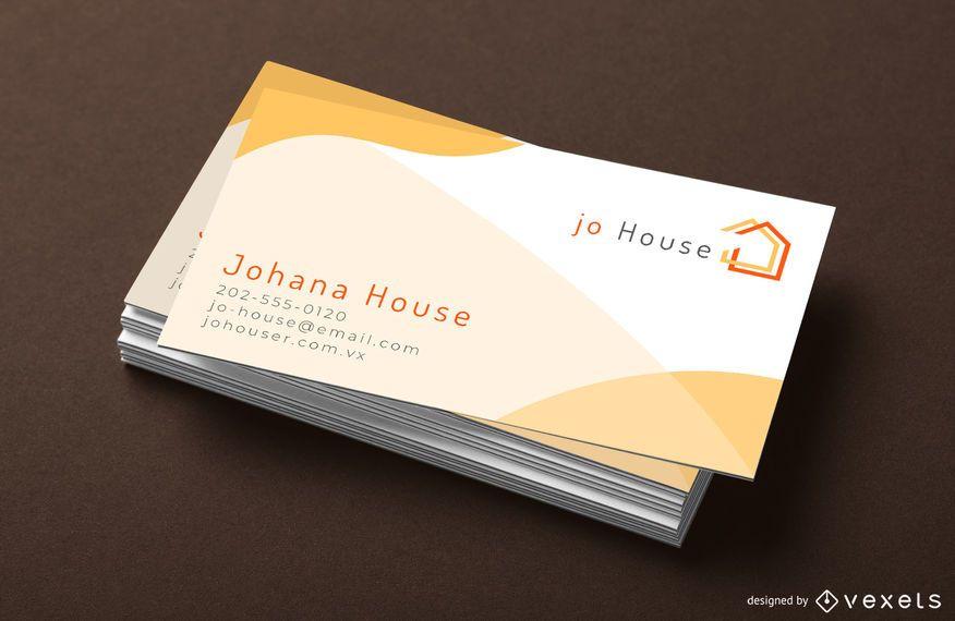 Plantilla de tarjeta de visita simple de la casa