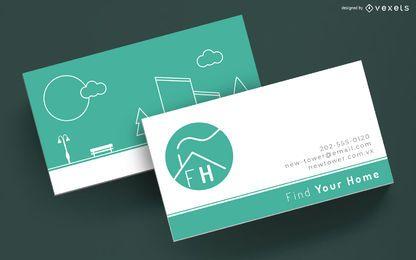 Plantilla de trazo de tarjeta de visita