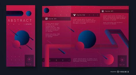Abstrakte Broschüre Vorlage