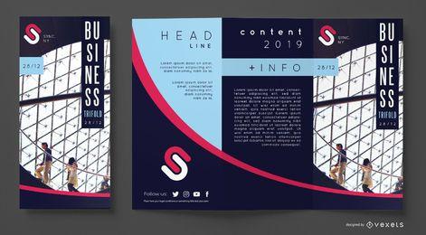 Plantilla de folleto comercial moderno