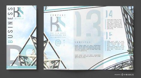 Modelo de negócio de brochura
