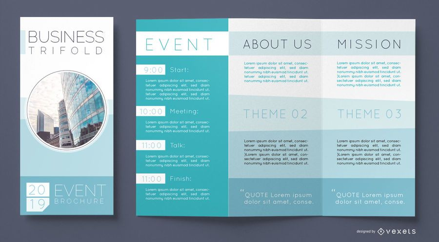 Business brochure tri-fold template