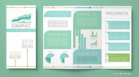 Modelo de gráficos de brochura comercial