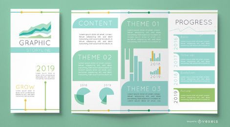 Plantilla de gráficos de folleto comercial