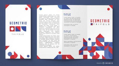 Plantilla de folleto comercial geométrico