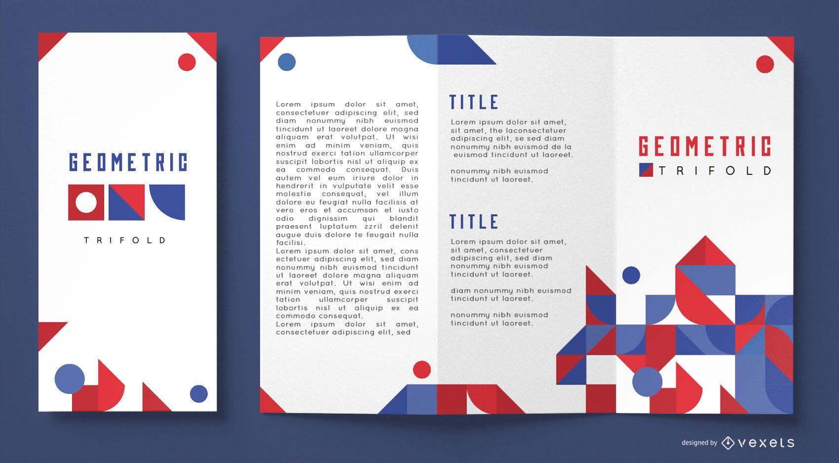 Geometric business brochure template