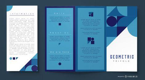 Blaue geometrische Geschäftsbroschürenschablone
