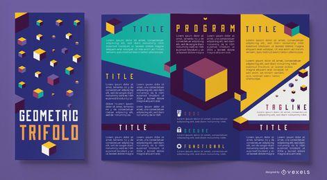 Brochura de negócios geométricos coloridos