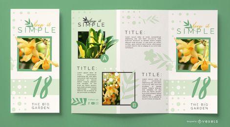Plantilla de folleto comercial de flores