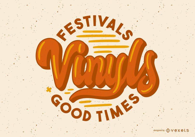 Vinyls retro lettering design