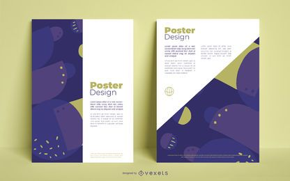 Design de cartaz de negócios abstratos