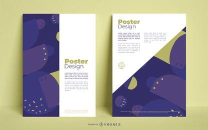 Diseño de póster abstracto de negocios
