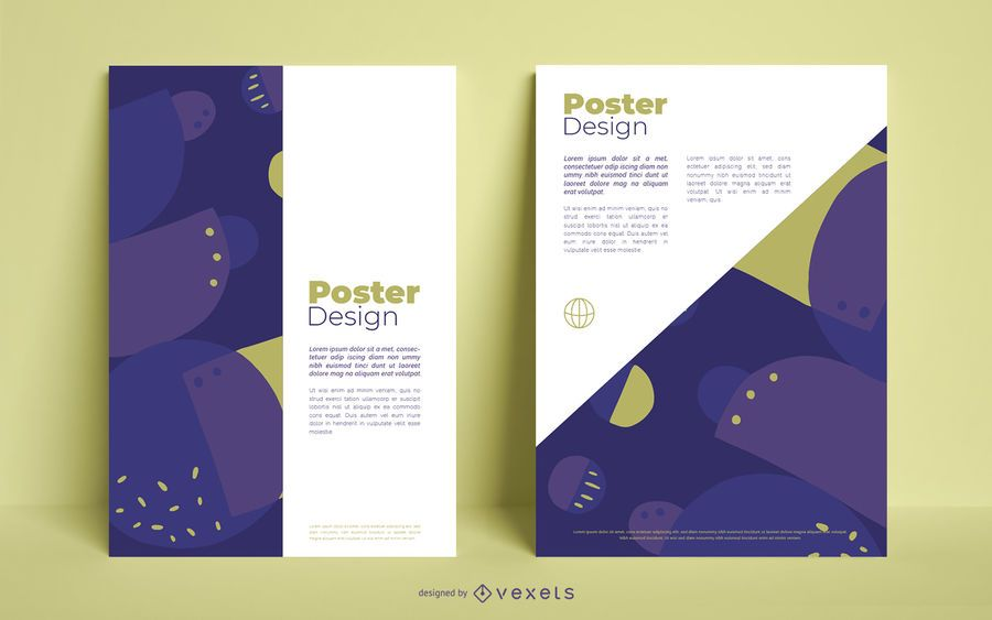 Abstract business poster design