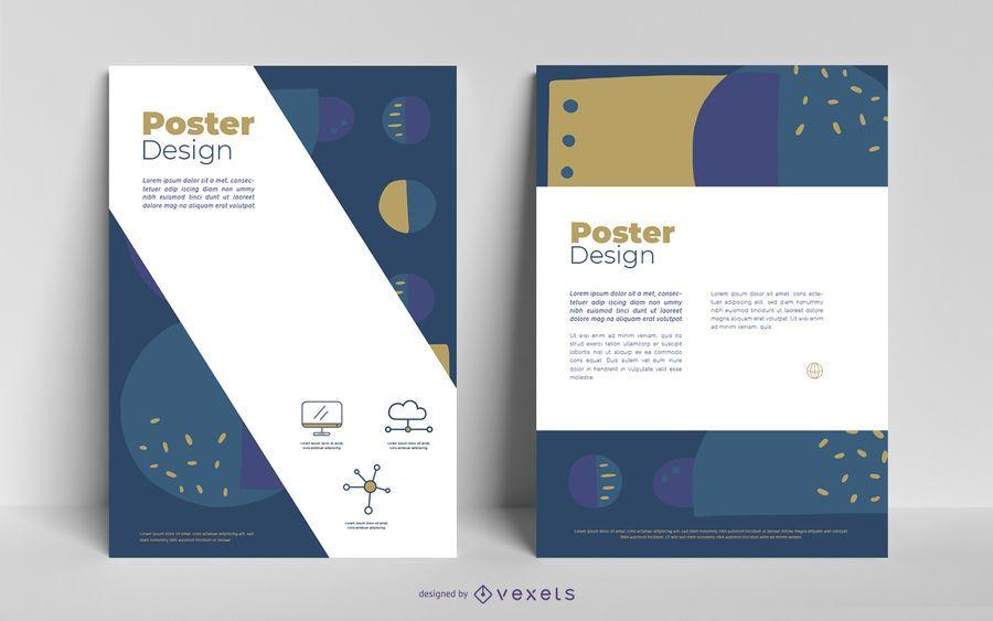 Diseño abstracto de póster de negocios