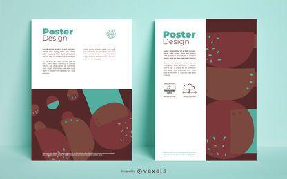 Conjunto de cartaz de negócios abstratos