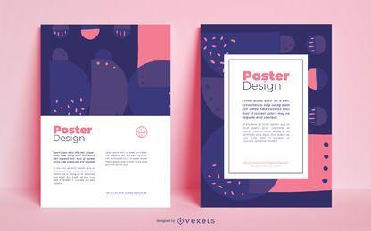 Design de cor abstrata de cartaz comercial