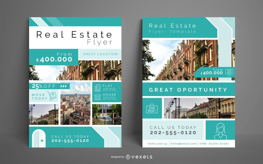 Real Estate Business Flyer Set