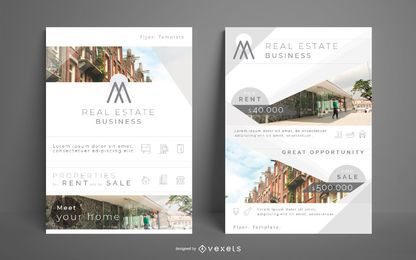 Paquete de folletos de negocios inmobiliarios
