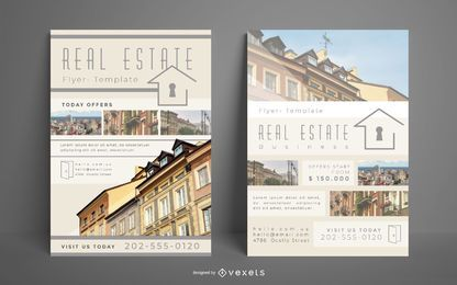 Immobilien Flyer Template Set