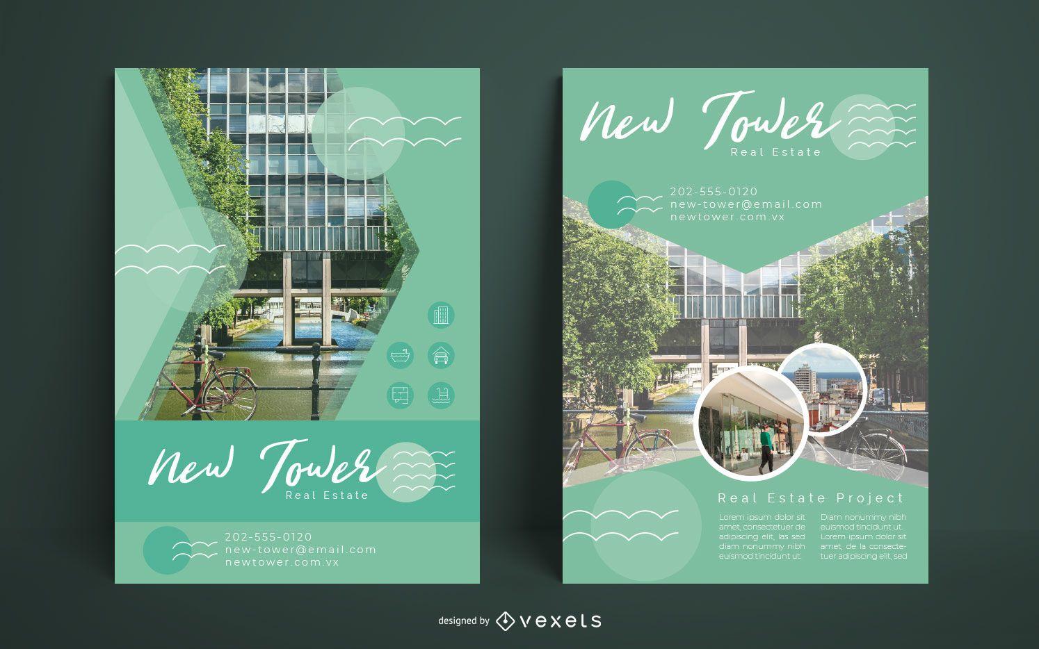 Real Estate Building Flyer Set