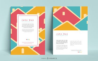 Paquete de diseño de folleto de bienes raíces