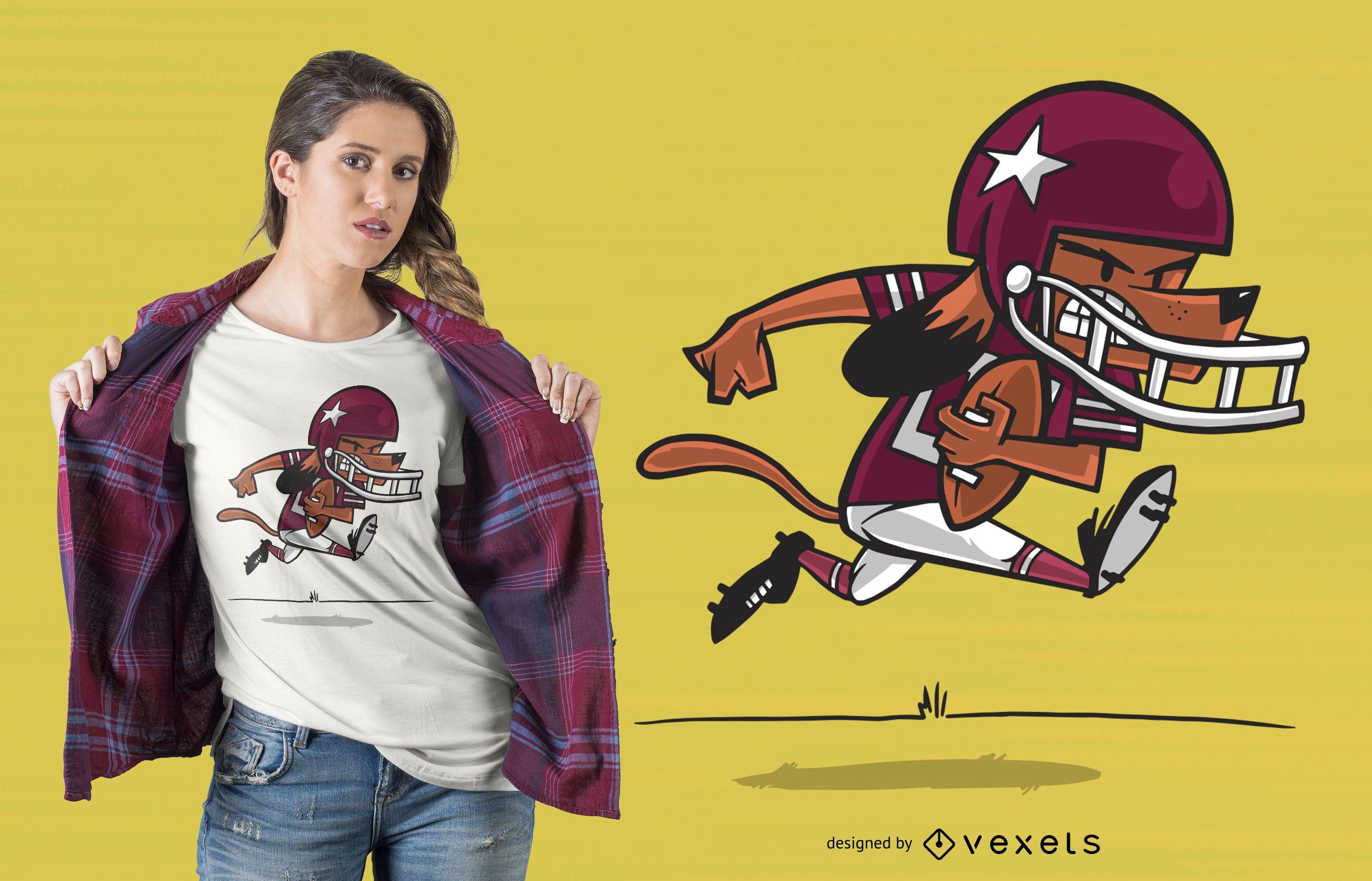 Football dog t-shirt design