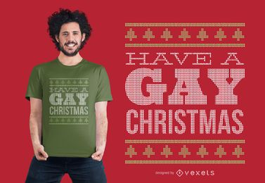 Design de camiseta de Natal gay