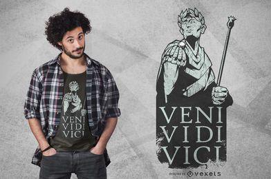 Diseño de camiseta de vei vedi vici