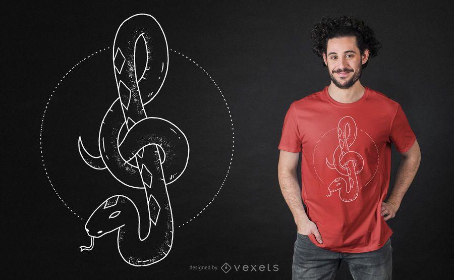 Design de camiseta tripla de cobra