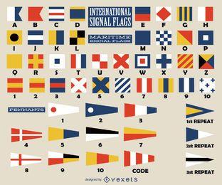 Coleção de sinalizadores internacionais